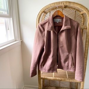 Marc NY Andrew Marc Vegan Suede ZIP Up Pink Jacket